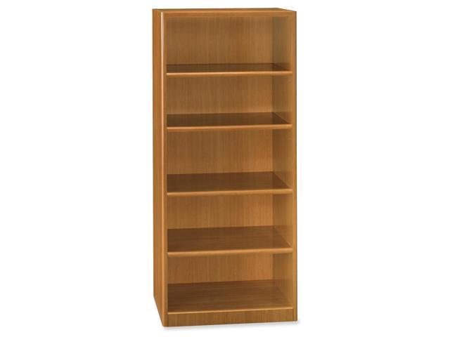Bush Furniture Quantum Series Bookcase, 5 Shelves, 29-1/4w x 14-5/8d x 67h, Modern Cherry