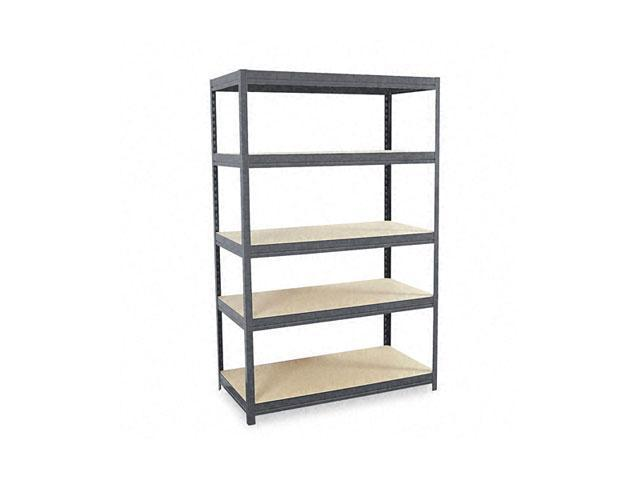 Edsal CR4818HP Industrial Steel Shelving, 5 Shelves, 48w x 18d x 72h, Gray