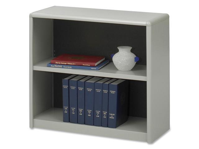 Safco 7170GR Value Mate Series Bookcase, 2 Shelves, 31-3/4w x 13-1/2d x 28h, Gray