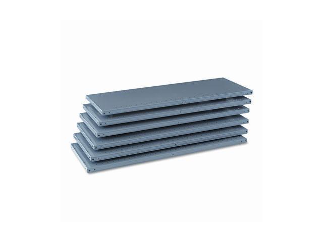 Tennsco 6Q24818MGY Industrial Steel Shelving for 87 High Posts, 48w x 18d, Medium Gray, 6/Carton