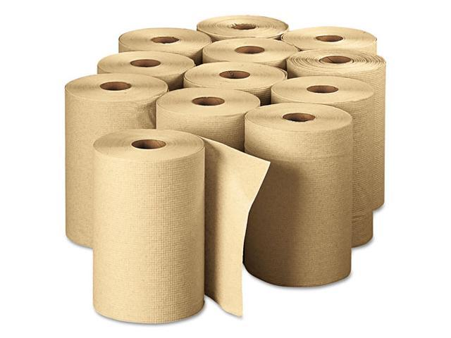 Georgia Pacific 26401 Envision Unperforated Paper Towel Rolls, 7-7/8 x 350', Brown, 12/Carton