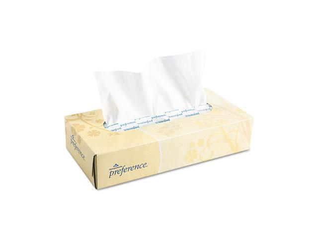 Georgia Pacific 48100 Preference Facial Tissue, Flat Box, 100 Sheets/Box, 30 Boxes/Carton