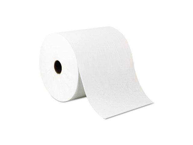 """KIMBERLY-CLARK PROFESSIONAL* 01005 SCOTT Nonperforated Hard Roll Towel, 8""""x1000 ft, Recycled, WH, 6 Rolls/Carton"""