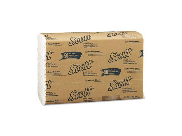 KIMBERLY-CLARK PROFESSIONAL* 01510 SCOTT C-Fold Paper Towels, 10 1/8 x 13 3/20, White, 200/Pack, 12/Carton