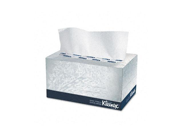 KIMBERLY-CLARK PROFESSIONAL* 01701 KLEENEX Hand Towels, POP-UP Box, Cloth, 9 x 10 1/2, 120/Box