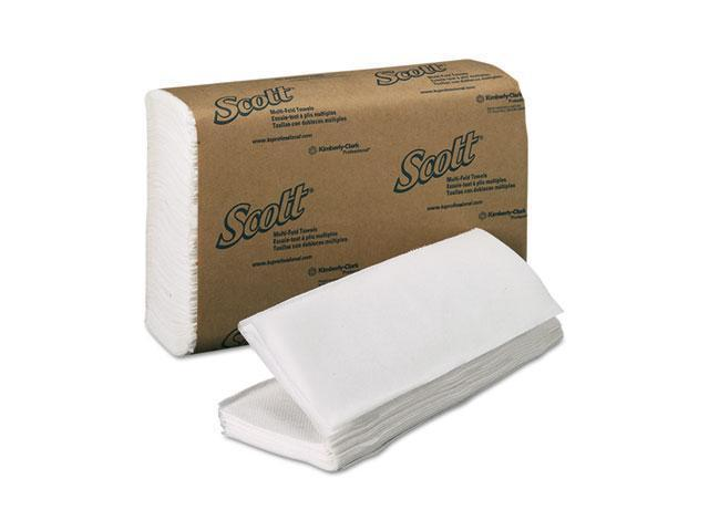 KIMBERLY-CLARK PROFESSIONAL* 01804 SCOTT Multifold Paper Towels, 9 1/5 x 9 2/5, White, 250/Pack, 16/Carton