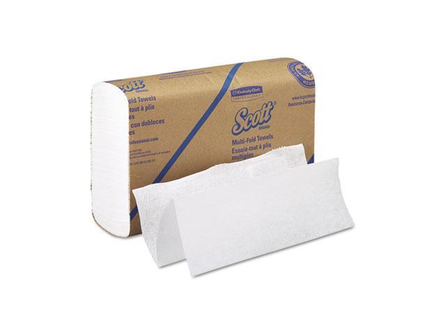 KIMBERLY-CLARK PROFESSIONAL* 01840 SCOTT Multifold Paper Towels, 9 1/5 x 9 2/5, White, 250/Pack, 16/Carton