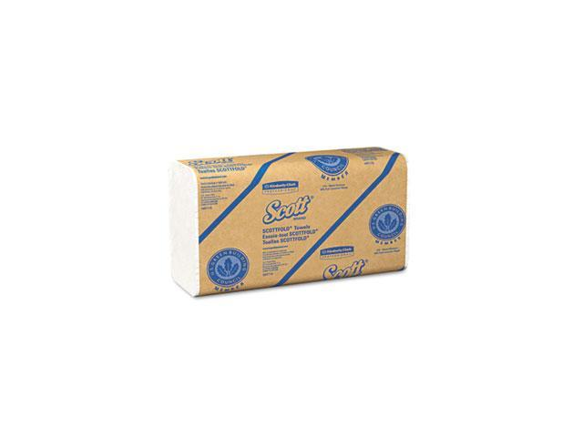 KIMBERLY-CLARK PROFESSIONAL* 01980 SCOTT SCOTTFOLD Towels, 9 2/5 x 12 2/5, White, 175 Towels/Pack, 25/Carton