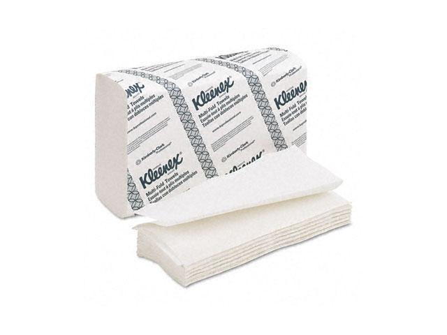 KIMBERLY-CLARK PROFESSIONAL* 02046 KLEENEX Multifold Paper Towels, 9 1/5 x 9 2/5, White, 150/Pack, 8/Carton