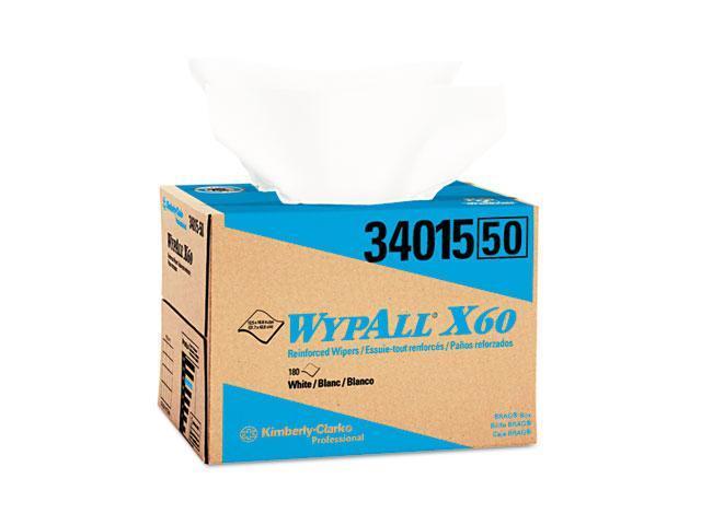KIMBERLY-CLARK PROFESSIONAL* 34015 WYPALL X60 Wipers, 12 1/2 x 16 7/8, 180/Box