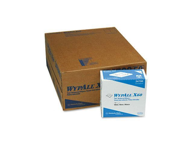 KIMBERLY-CLARK PROFESSIONAL* 34790CT WYPALL X60 Wipers, Nylon, 9 1/8 x 16 7/8, 126/Box, 10/Carton