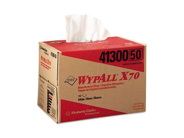 KIMBERLY-CLARK PROFESSIONAL* 41300 WYPALL X70 Wipers, BRAG Box, 12 1/2 x 16 4/5, White, 152/Carton