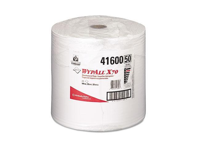 KIMBERLY-CLARK PROFESSIONAL* 41600 WYPALL X70 Wipers, Jumbo Roll, Perf., 12 1/2 x 13 2/5, White, 870/Roll, 1/Carton