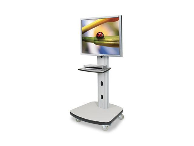 BALT Mobile Plasma/LCD Stand, 1-Shelf, 30-1/2w x 29-1/2d x 66-1/2h, Gray