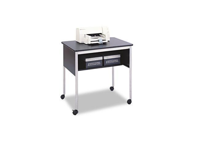 Safco 1874BL Multipurpose Mobile Machine Stand, 1-Shelf, 31-1/2w x 23-7/8d x 30-1/4h, Black