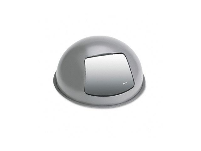 Safco 9609CH Optional Steel Push Top Dome Lid, 16 x 8, Charcoal