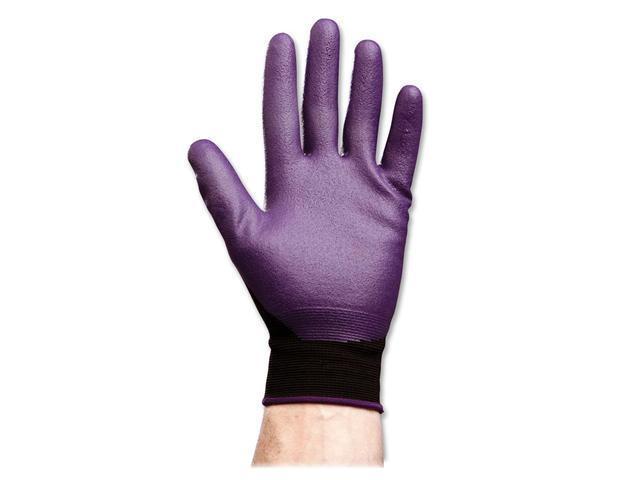 KIMBERLY-CLARK PROFESSIONAL* 40227 KLEENGUARD G40 Foam Coated Nitrile/Nylon Gloves, Large/Size 9, Purple, 12 Pair