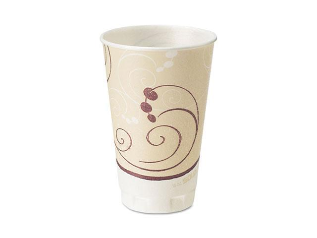 SOLO Cup Company X16J8002 Symphony Design Trophy Foam Hot/Cold Drink Cups, 16 oz., Beige, 750 Cups/Carton