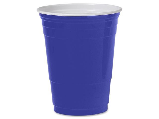 SOLO Cup Company P16BRLCT Plastic Party Cold Cups, 16 oz., Blue, 20 Bags of 50/Carton