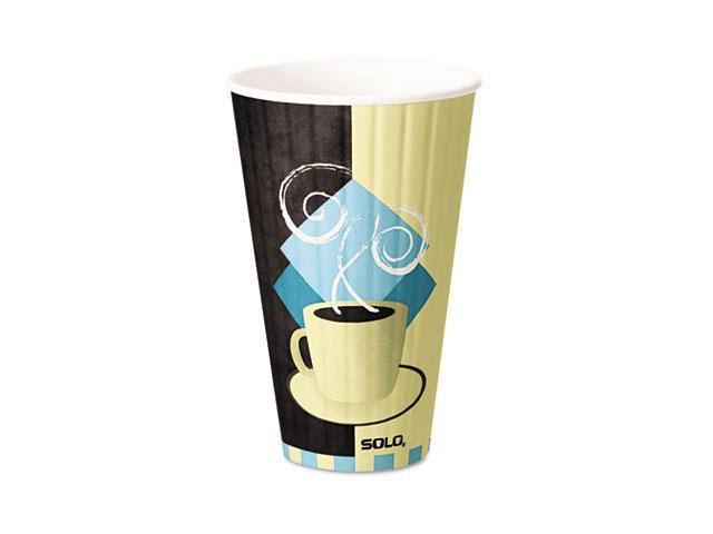 SOLO Cup Company IC20 Duo Shield Hot Insulated 20 oz Paper Cups, Beige, 350/Carton
