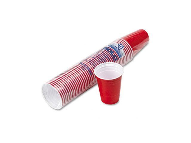 SOLO Cup Company P16RLR Plastic Party Cold Cups, 16oz, Red, 50/Pack