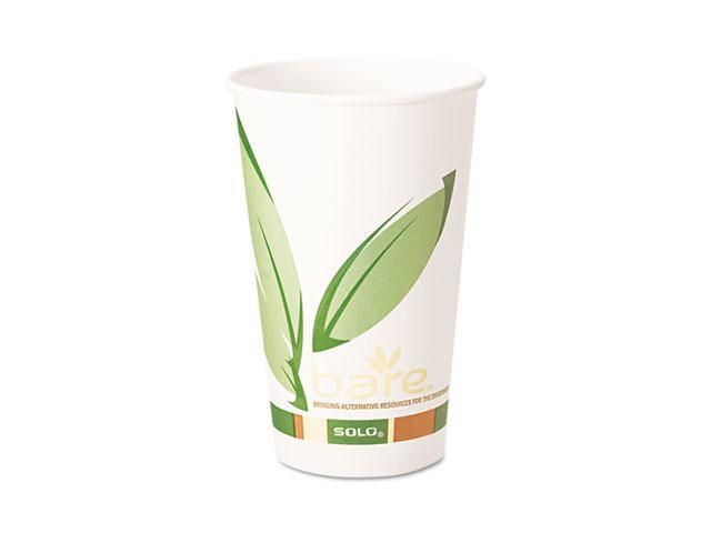 SOLO Cup Company 316RC Bare EcoForward Recycled Content PCF Hot Cups, 16 oz., 1000/Carton