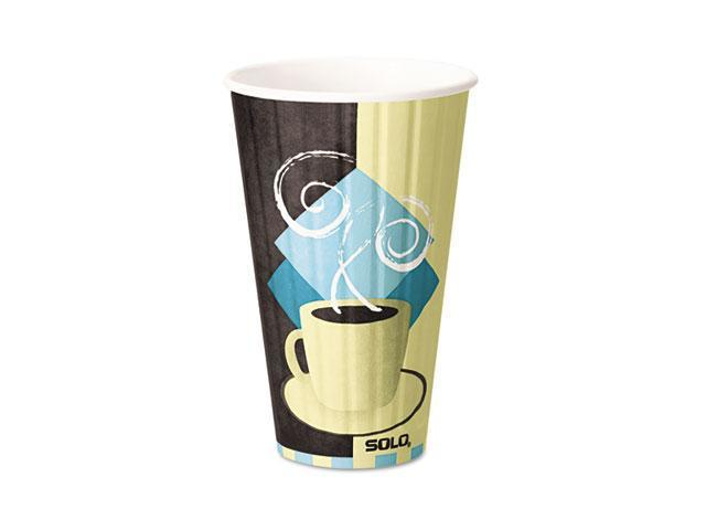 SOLO Cup Company IC16 Duo Shield Hot Insulated 16 oz Paper Cups, Beige, 525/Carton