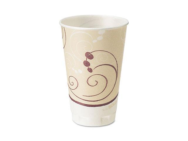 SOLO Cup Company X20J8002 Symphony Design Trophy Foam Hot/Cold Drink Cups, 20 oz., Beige, 750/Carton