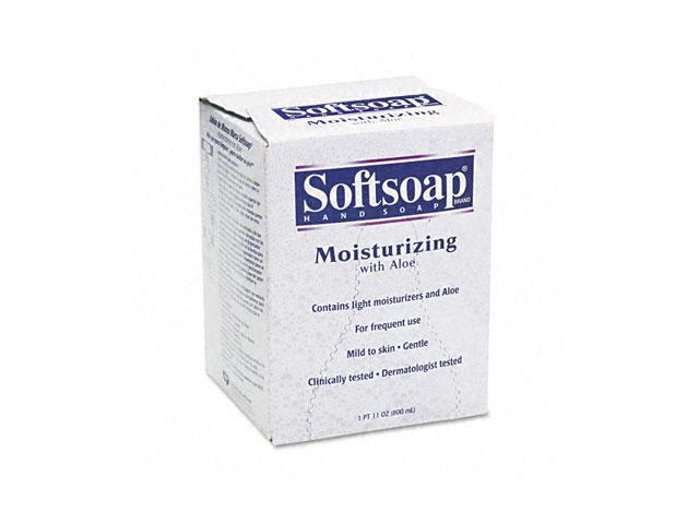 Softsoap 01924EA Moisturizing Soap w/Aloe, Unscented Liquid, Dispenser, 800ml