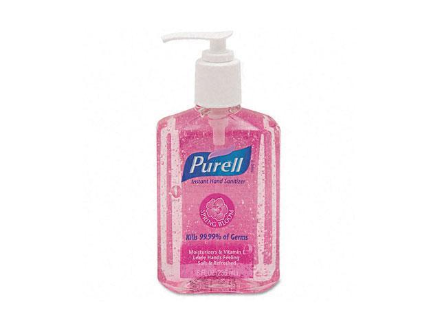 PURELL 3014-12-CMR Spring Bloom Instant Hand Sanitizer, Sweet Pea, 8-oz. Pump Bottle, Pink