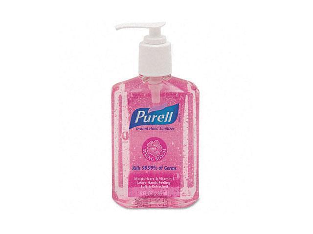 PURELL 3014-12-CMR Spring Bloom Instant Hand Sanitizer, Sweet Pea, 8-oz. Pump Bottle, Pink