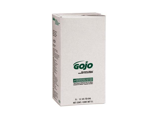 GOJO 7572 SUPRO MAX Hand Cleaner Refill, 5000 mL, Herbal Scent, Beige, 2/Carton