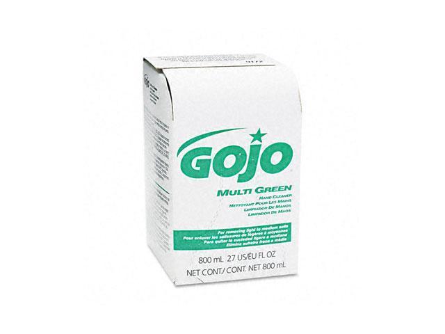 GOJO 9172-12EA MULTI GREEN Hand Cleaner 800-ml Bag-in-Box Dispenser Refill