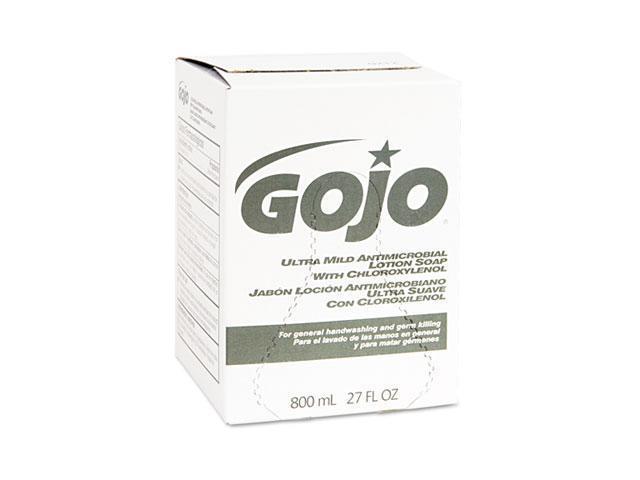 GOJO 9212-12EA Ultra Mild Lotion Soap w/Chloroxylenol Refill, Lightly Scented, 800-ml