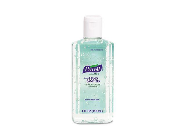 PURELL 9631CT Instant Hand Sanitizer w/Aloe, 4-oz. Flip-Cap Bottle, 24/Carton