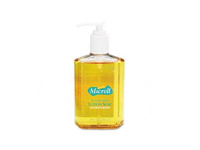 GOJO 9752-12EA MICRELL Antibacterial Lotion Soap, Unscented Liquid, 8 oz Pump