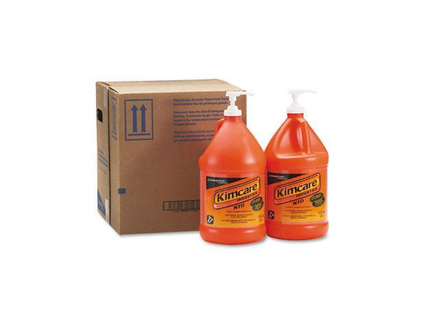 KIMBERLY-CLARK PROFESSIONAL* 91057CT KIMCARE INDUSTRIE NTO Hand Cleaner w/Grit, Orange, 1gal, Pump Bottle, 4/Carton