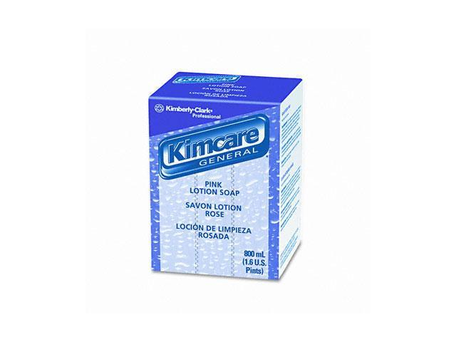 KIMBERLY-CLARK PROFESSIONAL* 91220EA KIMCARE GENERAL Pink Lotion Soap, Peach, 800ml, Bag In Box