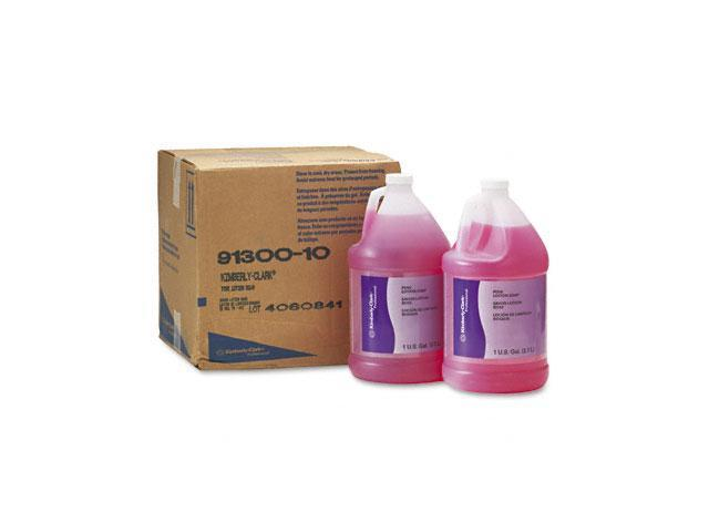 KIMBERLY-CLARK PROFESSIONAL* 91300CT KIMCARE GENERAL Pink Lotion Soap, Peach, 1gal Bottle, 4/Carton