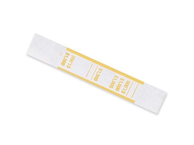 MMF Industries 216070G12 Self-Adhesive Currency Straps, Yellow, $1,000 in $10 Bills, 1000 Bands/Box