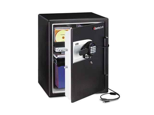 Sentry Safe QE5541 Water Resistant Safe, 2 ft3, 18-19/32w x 19-5/16d x 23-3/4h, Black/Silver