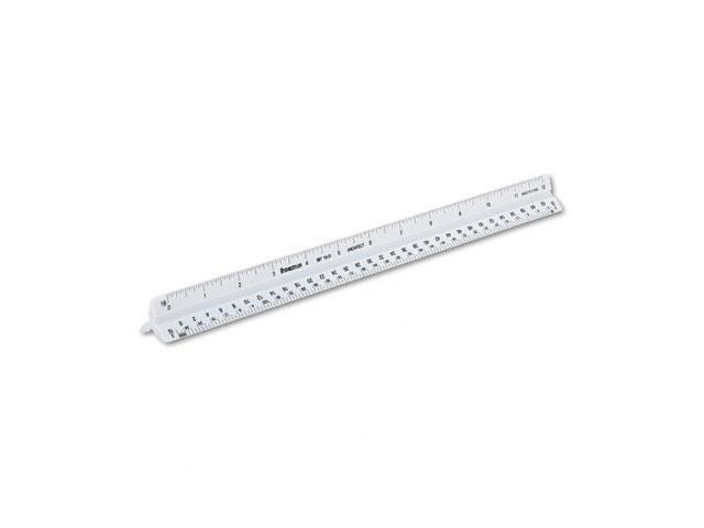 "Staedtler 98719-31 Triangular Scale Plastic Architects Ruler, 12"", White"