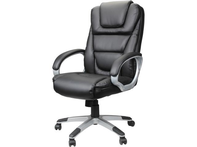 Rosewill By BOSS RFFC-13009 - Executive Ergonomic High-Back LeatherPlus Chair