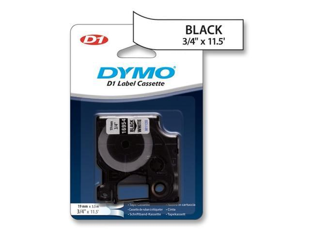 """Dymo D1 16954 Fabric Tape 0.75"""" Width x 11.48 ft. Length - 1 Each - Fabric - Thermal Transfer - White"""