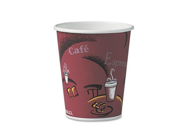 SOLO Cup Company 370SIPK Bistro Design Hot Drink Cups, Paper, 10 oz., 50/Pack