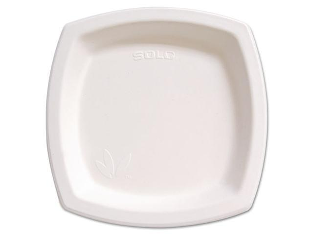 """SOLO Cup Company 10PSC-2050PK Bare Eco-Forward Dinnerware, 10"""" Plate, Ivory, 125/Pack"""