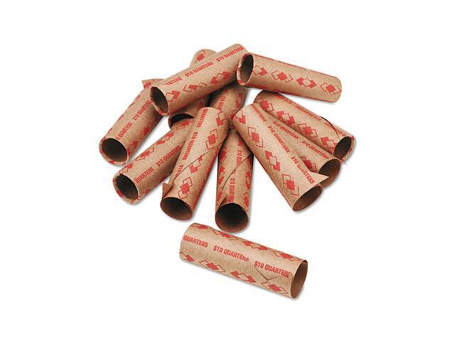 PM Company 65072 Preformed Tubular Coin Wrappers, Quarters, $10, 1000 Wrappers/Carton