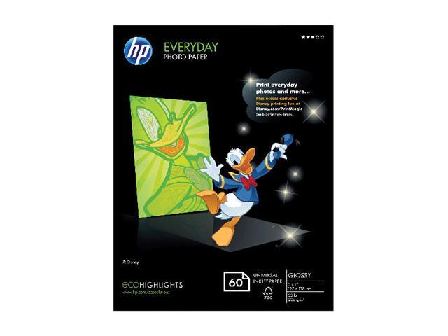 Hewlett-Packard CH097A Everyday Photo Paper, Glossy, 5 x7, 50 Sheets/Pack