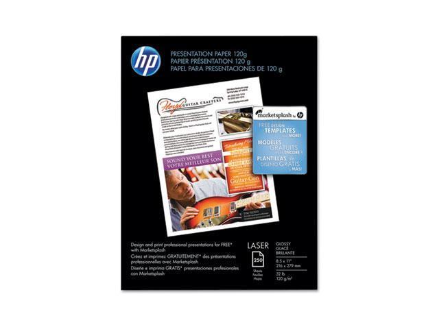 Hewlett-Packard CG988A Color Laser Presentation Paper, 97 Brightness, 32lb, 8-1/2 x 11, White, 250/Pack