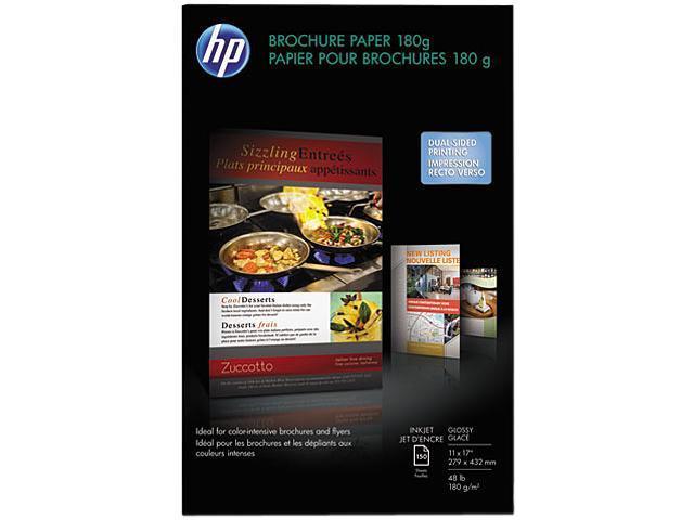 Hewlett-Packard CG932A Inkjet Brochure/Flyer Paper, 98 Brightness, 48lb, 11 x 17, White, 150 Shts/Pk